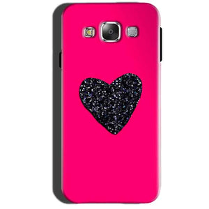 Samsung Galaxy A7 2015 Mobile Covers Cases Pink Glitter Heart - Lowest Price - Paybydaddy.com