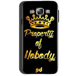 Samsung Galaxy A7 2015 Mobile Covers Cases Property of nobody with Crown - Lowest Price - Paybydaddy.com