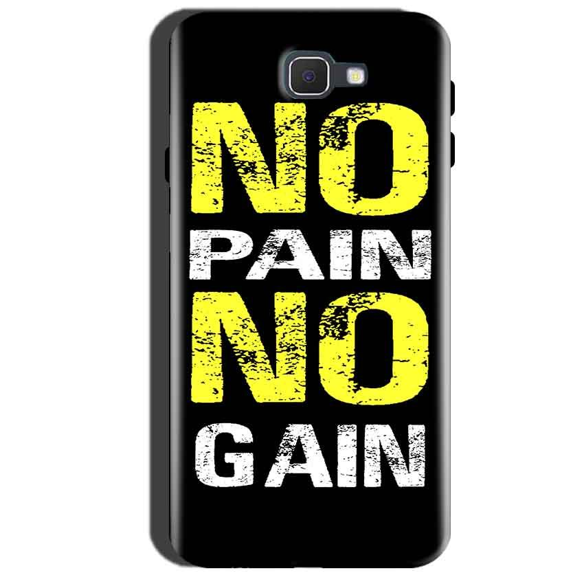Samsung Galaxy A7 2016 Mobile Covers Cases No Pain No Gain Yellow Black - Lowest Price - Paybydaddy.com