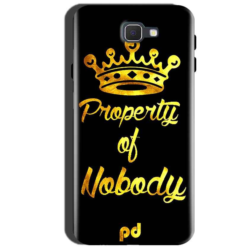 Samsung Galaxy A7 2016 Mobile Covers Cases Property of nobody with Crown - Lowest Price - Paybydaddy.com