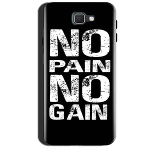Samsung Galaxy A7 2017 Mobile Covers Cases No Pain No Gain Black And White - Lowest Price - Paybydaddy.com
