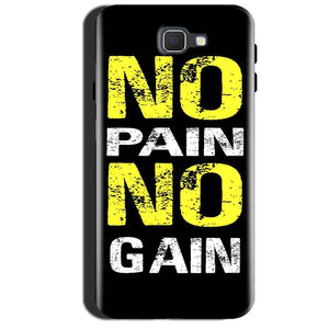 Samsung Galaxy A7 2017 Mobile Covers Cases No Pain No Gain Yellow Black - Lowest Price - Paybydaddy.com