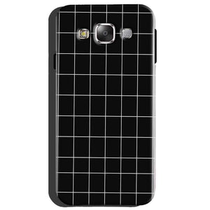 Samsung Galaxy A8 Mobile Covers Cases Black with White Checks - Lowest Price - Paybydaddy.com