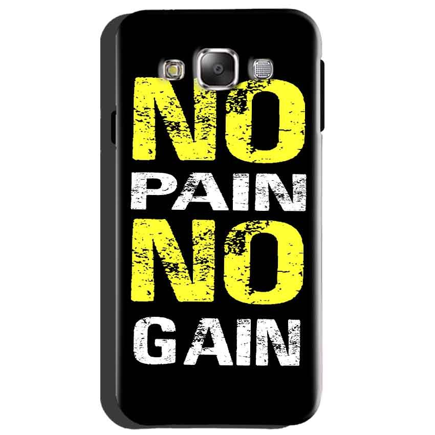 Samsung Galaxy A8 Mobile Covers Cases No Pain No Gain Yellow Black - Lowest Price - Paybydaddy.com