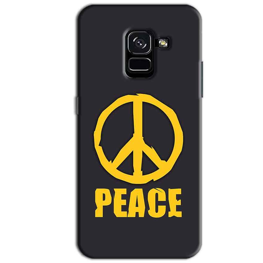 Samsung Galaxy A8 Plus Mobile Covers Cases Peace Blue Yellow - Lowest Price - Paybydaddy.com