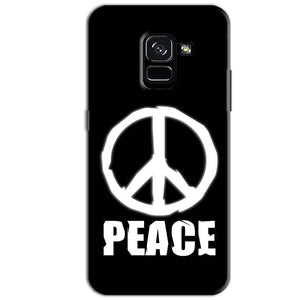 Samsung Galaxy A8 Plus Mobile Covers Cases Peace Sign In White - Lowest Price - Paybydaddy.com
