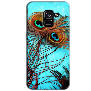 Samsung Galaxy A8 Plus Mobile Covers Cases Peacock blue wings - Lowest Price - Paybydaddy.com