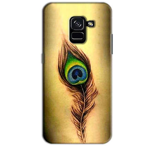 Samsung Galaxy A8 Plus Mobile Covers Cases Peacock coloured art - Lowest Price - Paybydaddy.com
