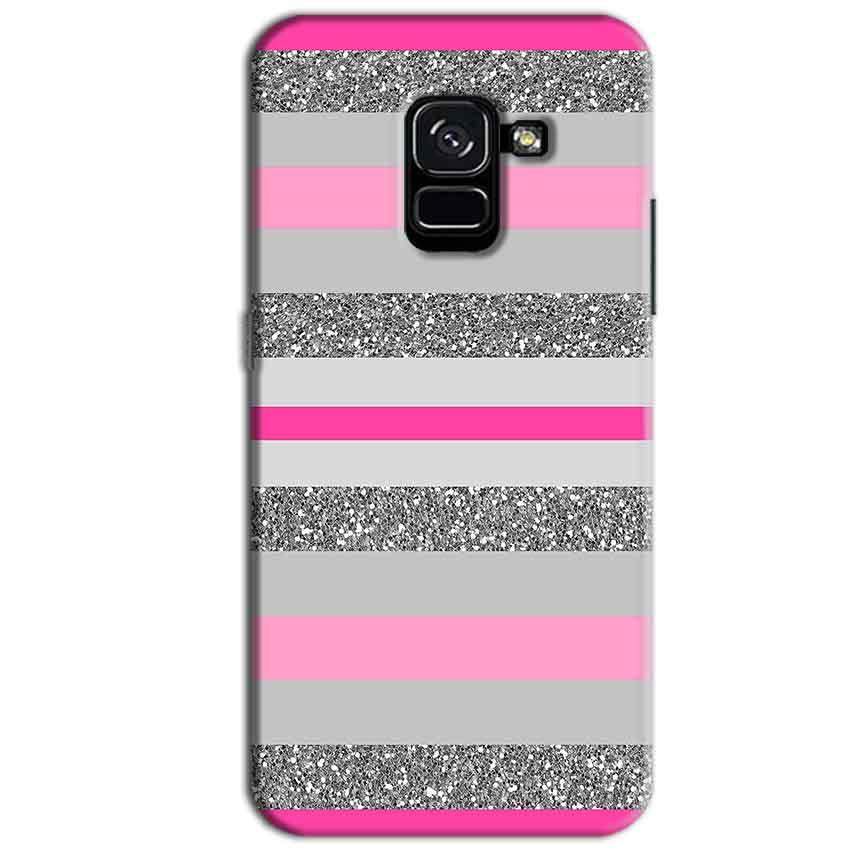 Samsung Galaxy A8 Plus Mobile Covers Cases Pink colour pattern - Lowest Price - Paybydaddy.com