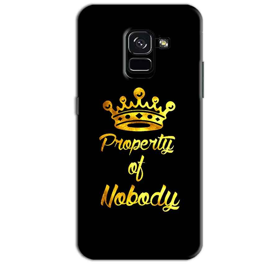 Samsung Galaxy A8 Plus Mobile Covers Cases Property of nobody with Crown - Lowest Price - Paybydaddy.com