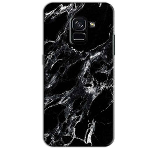 Samsung Galaxy A8 Plus Mobile Covers Cases Pure Black Marble Texture - Lowest Price - Paybydaddy.com