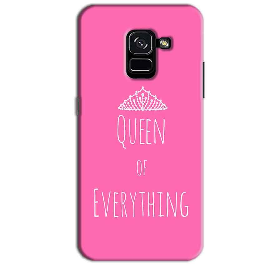 Samsung Galaxy A8 Plus Mobile Covers Cases Queen Of Everything Pink White - Lowest Price - Paybydaddy.com