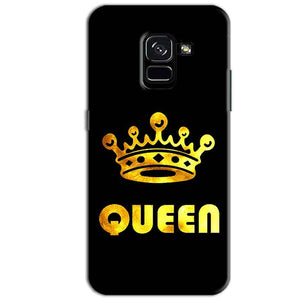 Samsung Galaxy A8 Plus Mobile Covers Cases Queen With Crown in gold - Lowest Price - Paybydaddy.com