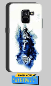 Samsung Galaxy A8 Plus Mobile Covers Cases Shiva Blue White - Lowest Price - Paybydaddy.com