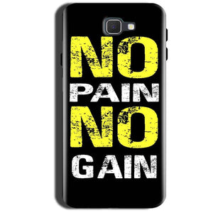 Samsung Galaxy A9 Pro 2016 Mobile Covers Cases No Pain No Gain Yellow Black - Lowest Price - Paybydaddy.com