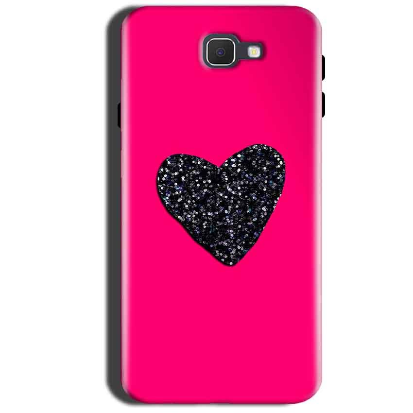 Samsung Galaxy A9 Pro 2016 Mobile Covers Cases Pink Glitter Heart - Lowest Price - Paybydaddy.com
