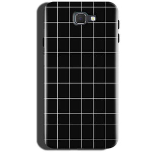 Samsung Galaxy C5 Pro Mobile Covers Cases Black with White Checks - Lowest Price - Paybydaddy.com