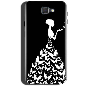 Samsung Galaxy C5 Pro Mobile Covers Cases Butterfly black girl - Lowest Price - Paybydaddy.com