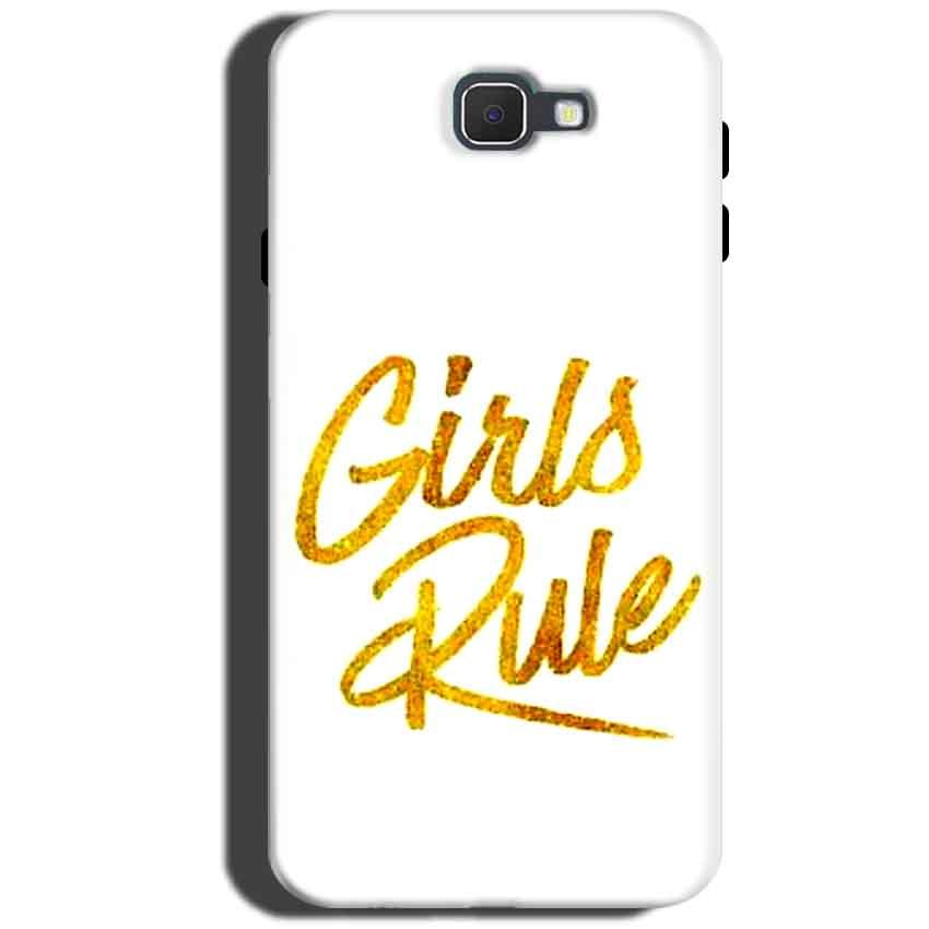 Samsung Galaxy C5 Pro Mobile Covers Cases Girls Rule in Gold - Lowest Price - Paybydaddy.com