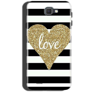 Samsung Galaxy C5 Pro Mobile Covers Cases Golden Heart With Love - Lowest Price - Paybydaddy.com