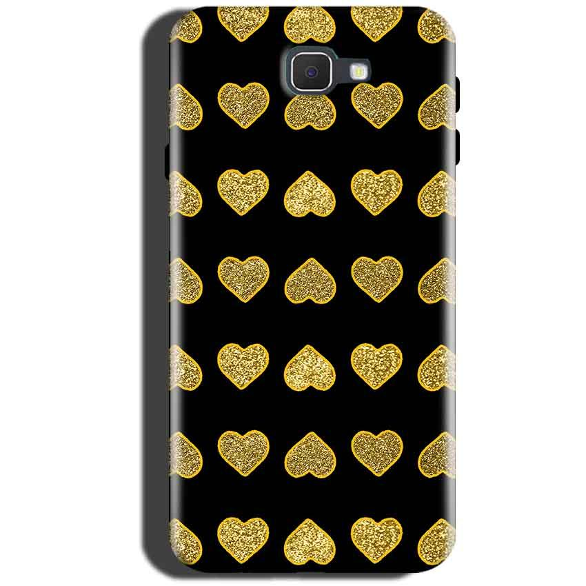 Samsung Galaxy C5 Pro Golden Little Mobile Covers Cases Hearts- Lowest Price - Paybydaddy.com