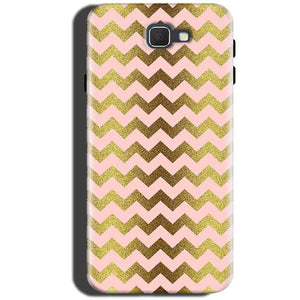 Samsung Galaxy C5 Pro Mobile Covers Cases Golden Zig Zag Pattern - Lowest Price - Paybydaddy.com