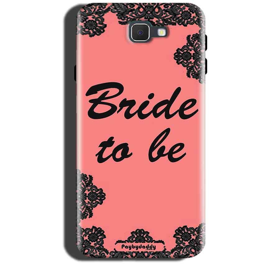 Samsung Galaxy C5 Pro Mobile Covers Cases Mobile Covers Cases bride to be with ring Black Pink - Lowest Price - Paybydaddy.com