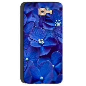 Samsung Galaxy C7 Pro Mobile Covers Cases Blue flower - Lowest Price - Paybydaddy.com