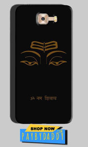Samsung Galaxy C7 Pro Mobile Covers Cases Om Namaha Gold Black - Lowest Price - Paybydaddy.com
