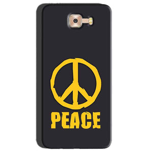 Samsung Galaxy C7 Pro Mobile Covers Cases Peace Blue Yellow - Lowest Price - Paybydaddy.com