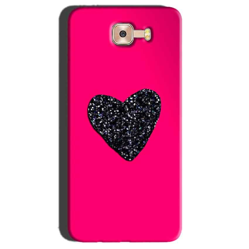 Samsung Galaxy C7 Pro Mobile Covers Cases Pink Glitter Heart - Lowest Price - Paybydaddy.com