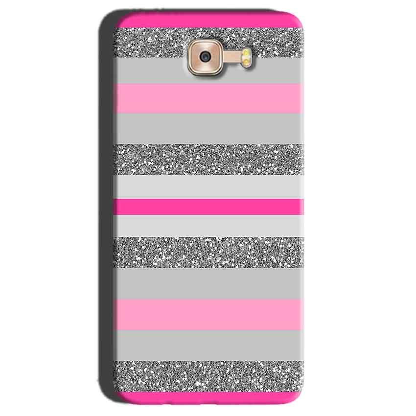 Samsung Galaxy C7 Pro Mobile Covers Cases Pink colour pattern - Lowest Price - Paybydaddy.com