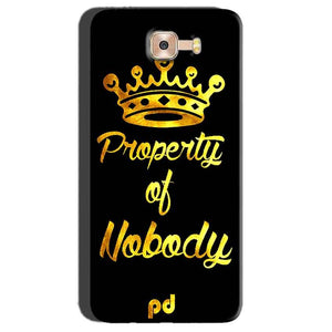 Samsung Galaxy C7 Pro Mobile Covers Cases Property of nobody with Crown - Lowest Price - Paybydaddy.com