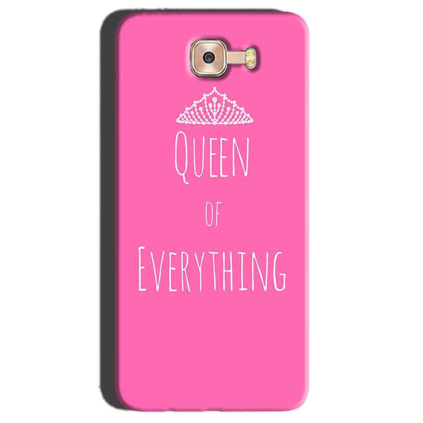 Samsung Galaxy C7 Pro Mobile Covers Cases Queen Of Everything Pink White - Lowest Price - Paybydaddy.com
