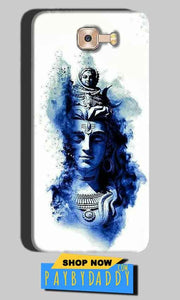 Samsung Galaxy C7 Pro Mobile Covers Cases Shiva Blue White - Lowest Price - Paybydaddy.com
