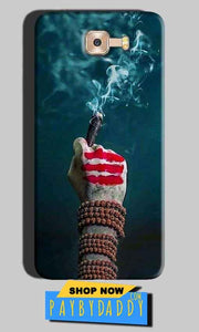 Samsung Galaxy C7 Pro Mobile Covers Cases Shiva Hand With Clilam - Lowest Price - Paybydaddy.com