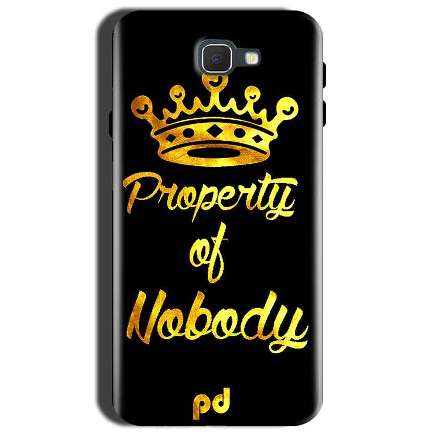 Samsung Galaxy C9 Pro Mobile Covers Cases Property of nobody with Crown - Lowest Price - Paybydaddy.com