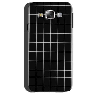 Samsung Galaxy Core Prime Mobile Covers Cases Black with White Checks - Lowest Price - Paybydaddy.com