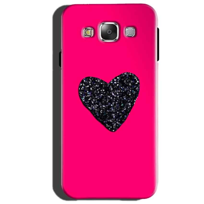 Samsung Galaxy Core Prime Mobile Covers Cases Pink Glitter Heart - Lowest Price - Paybydaddy.com