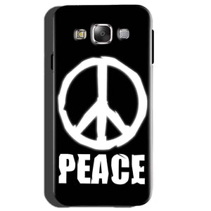 Samsung Galaxy E5 Mobile Covers Cases Peace Sign In White - Lowest Price - Paybydaddy.com