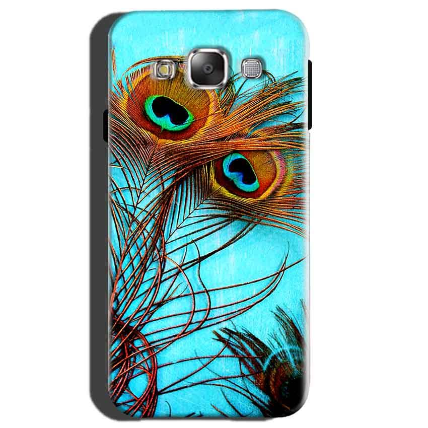 Samsung Galaxy E5 Mobile Covers Cases Peacock blue wings - Lowest Price - Paybydaddy.com