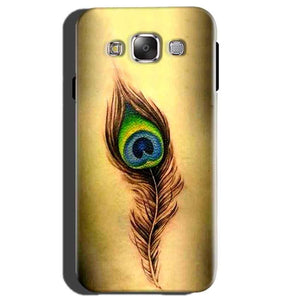 Samsung Galaxy E5 Mobile Covers Cases Peacock coloured art - Lowest Price - Paybydaddy.com