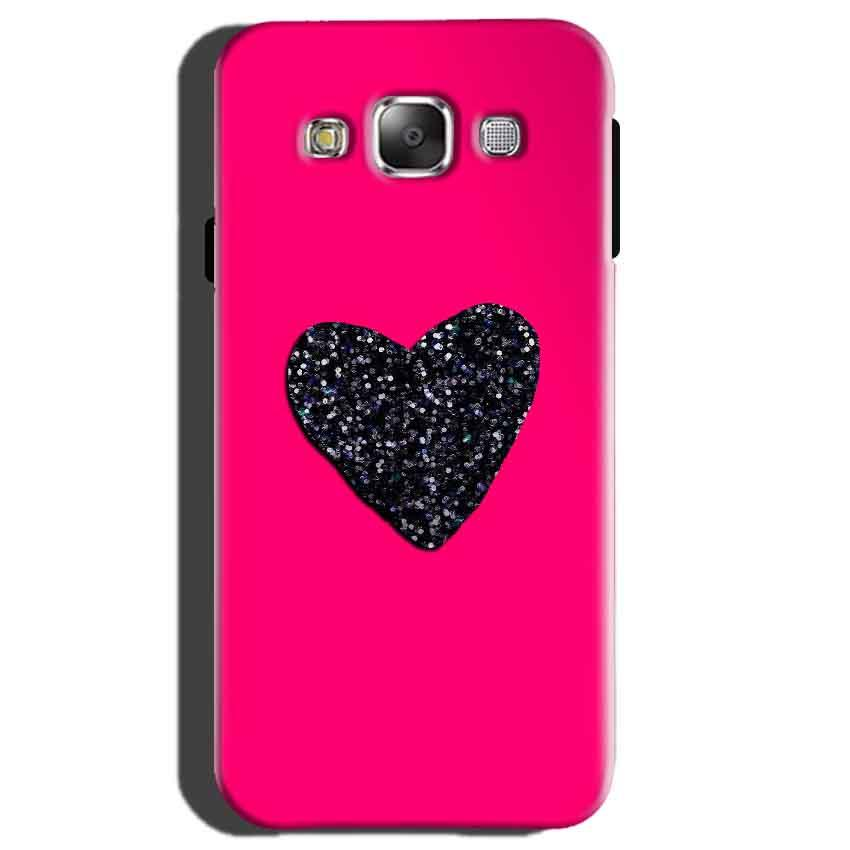 Samsung Galaxy E5 Mobile Covers Cases Pink Glitter Heart - Lowest Price - Paybydaddy.com