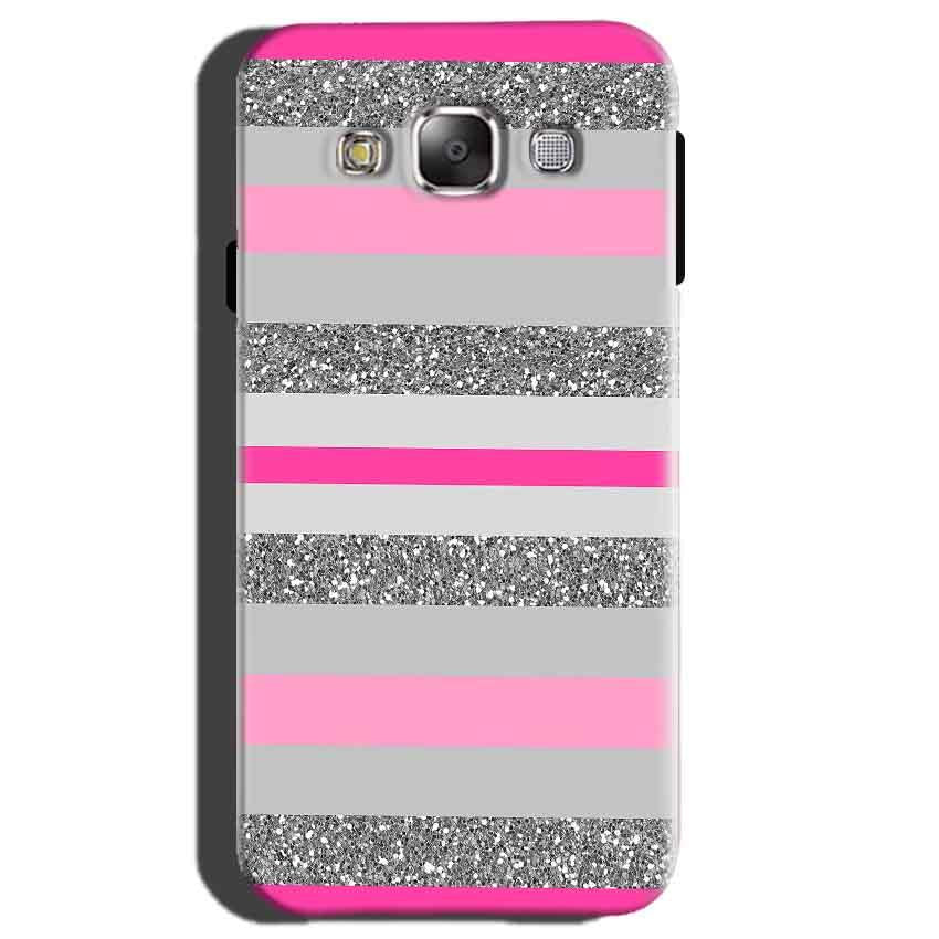 Samsung Galaxy E5 Mobile Covers Cases Pink colour pattern - Lowest Price - Paybydaddy.com