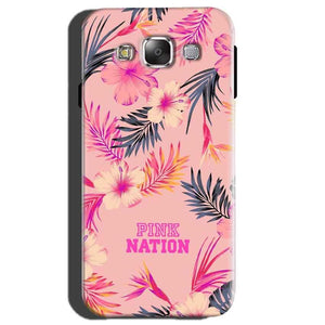 Samsung Galaxy E5 Mobile Covers Cases Pink nation - Lowest Price - Paybydaddy.com