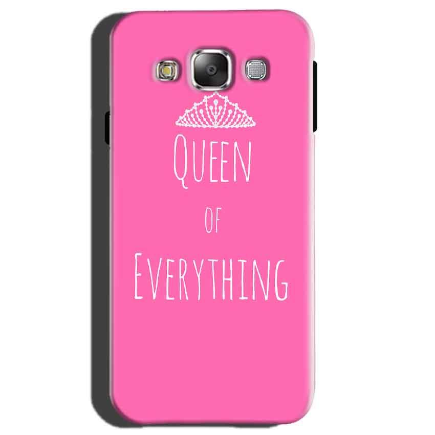 Samsung Galaxy E5 Mobile Covers Cases Queen Of Everything Pink White - Lowest Price - Paybydaddy.com