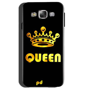 Samsung Galaxy E5 Mobile Covers Cases Queen With Crown in gold - Lowest Price - Paybydaddy.com