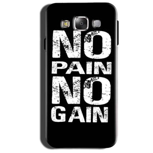 Samsung Galaxy Grand 3 G7200 Mobile Covers Cases No Pain No Gain Black And White - Lowest Price - Paybydaddy.com