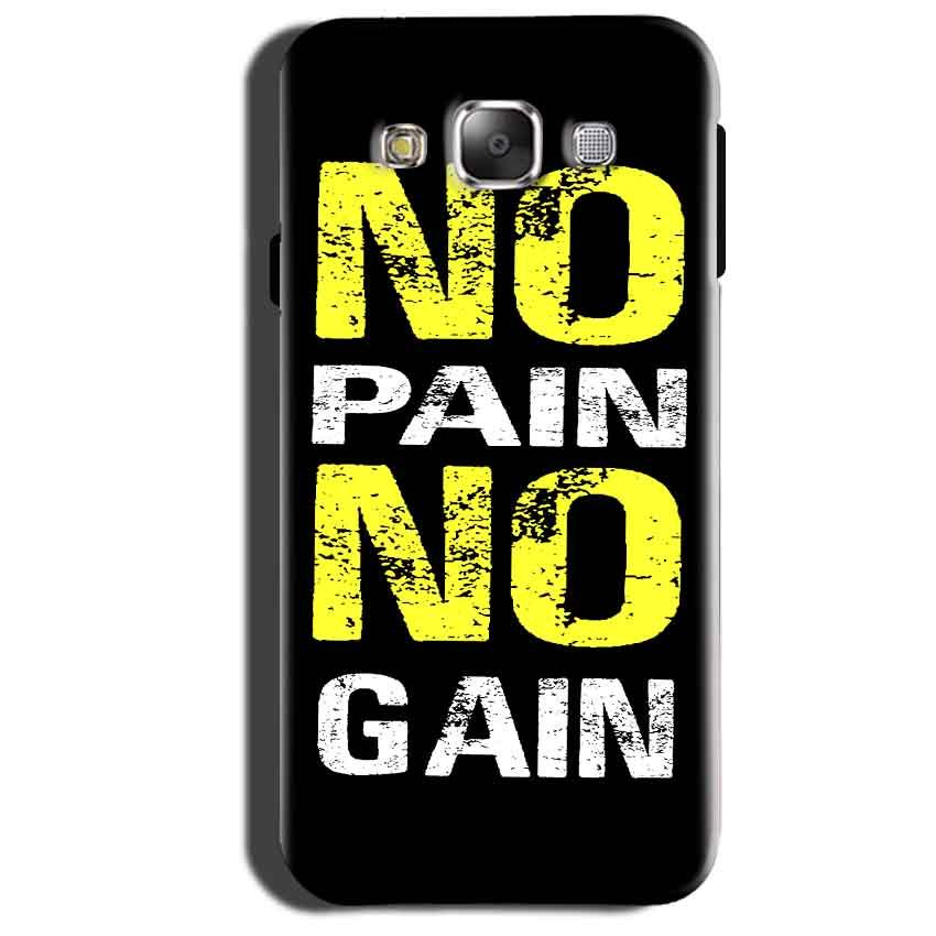 Samsung Galaxy Grand 3 G7200 Mobile Covers Cases No Pain No Gain Yellow Black - Lowest Price - Paybydaddy.com