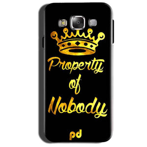 Samsung Galaxy Grand 3 G7200 Mobile Covers Cases Property of nobody with Crown - Lowest Price - Paybydaddy.com